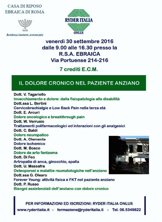 Dolore cronico 30/09/2016